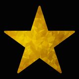 Gold triangle star Stock Image