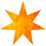 Gold triangle star seven pointed Royalty Free Stock Photos