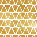 Gold triangle vector texture. Metal painted background with triangular shapes Stock Photography