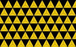 gold triangles design for pattern and background, illustra Stock Images