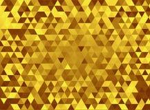 Gold triangles Stock Photos