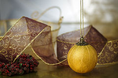 Gold Trimmed Holiday Background Royalty Free Stock Photography