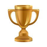 Gold trophy. Illustration of gold trophy kept on isolated white background stock illustration