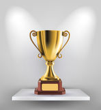 Gold trophy. Illustration of gold trophy kept on shelf royalty free illustration
