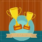 Gold Trophy Stock Photography