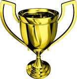 Gold Trophy 3D Royalty Free Stock Images