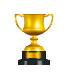 Gold Trophy Cup. Made with the help of vector based software royalty free illustration