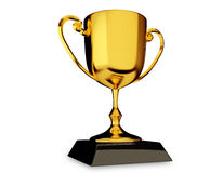 Gold Trophy Cup. Made with the help of vector based software Royalty Free Stock Images