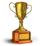 Gold trophy cup Royalty Free Stock Images
