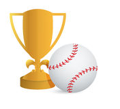 Gold Trophy Cup Baseball Stock Photography