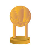 Gold Trophy Cup Basketball Royalty Free Stock Image