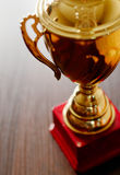 Gold trophy cup Royalty Free Stock Image