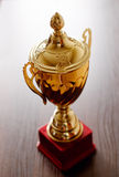 Gold trophy cup Royalty Free Stock Photos