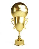 Gold Trophy Cup football Royalty Free Stock Photo