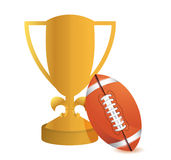 Gold Trophy Cup Football Stock Photography