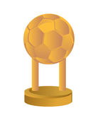 Gold Trophy Cup football soccer Royalty Free Stock Image