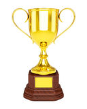 Gold trophy cup isolated Stock Photography