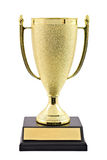 Gold trophy cup Stock Image