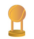 Gold Trophy Cup Tennis. On a white background Royalty Free Stock Images