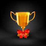 Gold Trophy Cup. Vector Royalty Free Stock Photos