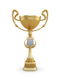 Gold trophy cup on a white background Stock Photography
