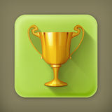 Gold trophy  flat icon Royalty Free Stock Images