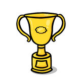 Gold Trophy Illustration Royalty Free Stock Image