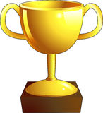 Gold trophy illustration icon Stock Image