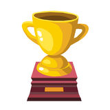 Gold trophy isolated illustration Stock Images