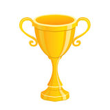 Gold trophy isolated illustration Stock Photography