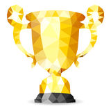 Gold Trophy Royalty Free Stock Photography