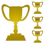 Gold Trophy Set Stock Images