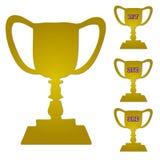Gold Trophy Set Stock Images