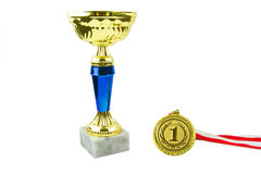 Gold trophy Stock Image