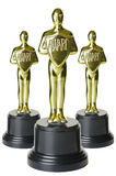 Gold trophys Stock Photography