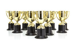 Gold Trophys Royalty Free Stock Image