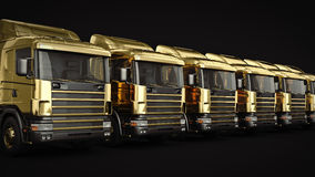 Gold truck. Gold truck concept. 3D rendering Stock Image