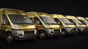 Gold Truck-Fast shipping. Stock Images