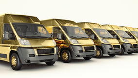Gold Truck-Fast shipping. Stock Photography