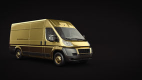 Gold Truck-Fast shipping. Royalty Free Stock Photos