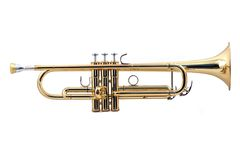 Gold trumpet Stock Photos