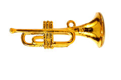 Gold trumpet Royalty Free Stock Photo