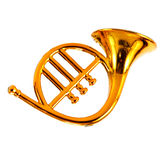 Gold trumpet Stock Image