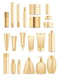 Gold tubes Royalty Free Stock Photos