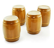 Gold tuns from wine cellar isolated. On a white background Stock Photography