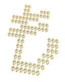 Gold turkish lira signs Stock Photos