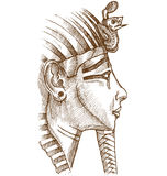 Gold tutankhamon mask Stock Images