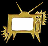 Gold tv Royalty Free Stock Photo