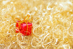 Gold twinkle christmas background royalty free stock images