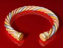Gold Twist Bangle Stock Photo